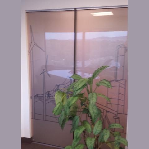 Intimité pour vitres de bureau